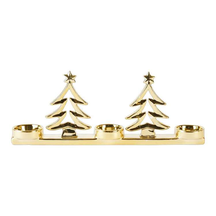 Living Space Festive 3 Tree Tea Light Candle Holder