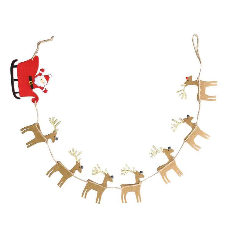 Jolly & Joy Santa With Sleigh Bunting