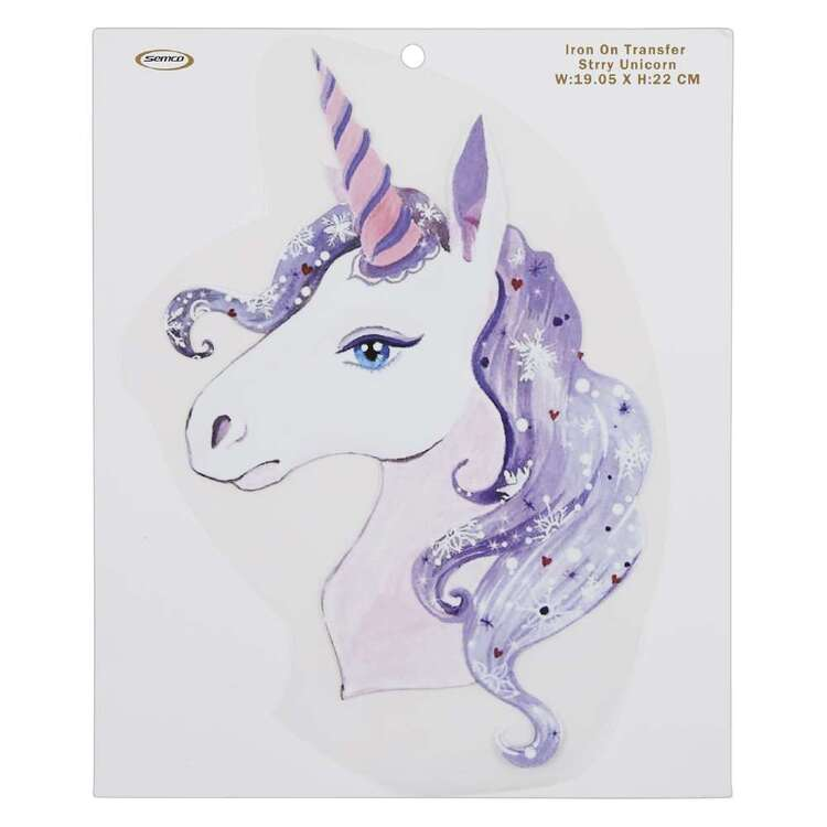 Starry Unicorn Iron On Transfer