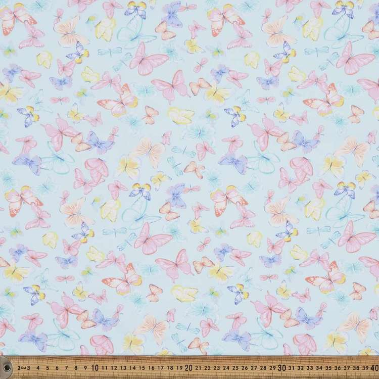 Butterfly Ball Printed 112 cm Mix N Match Poly Cotton Fabric