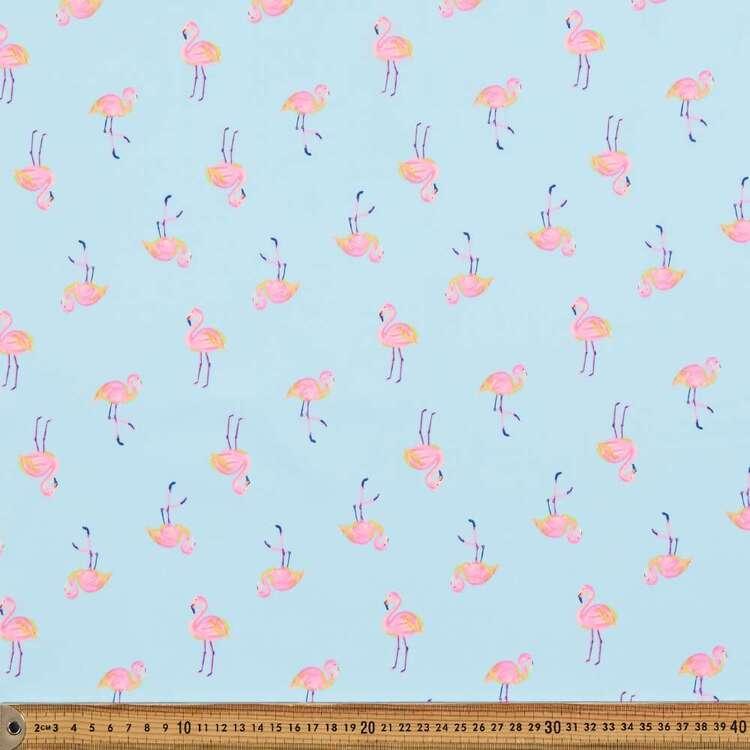 Flamingo Printed 112 cm Mix N Match Poly Cotton Fabric