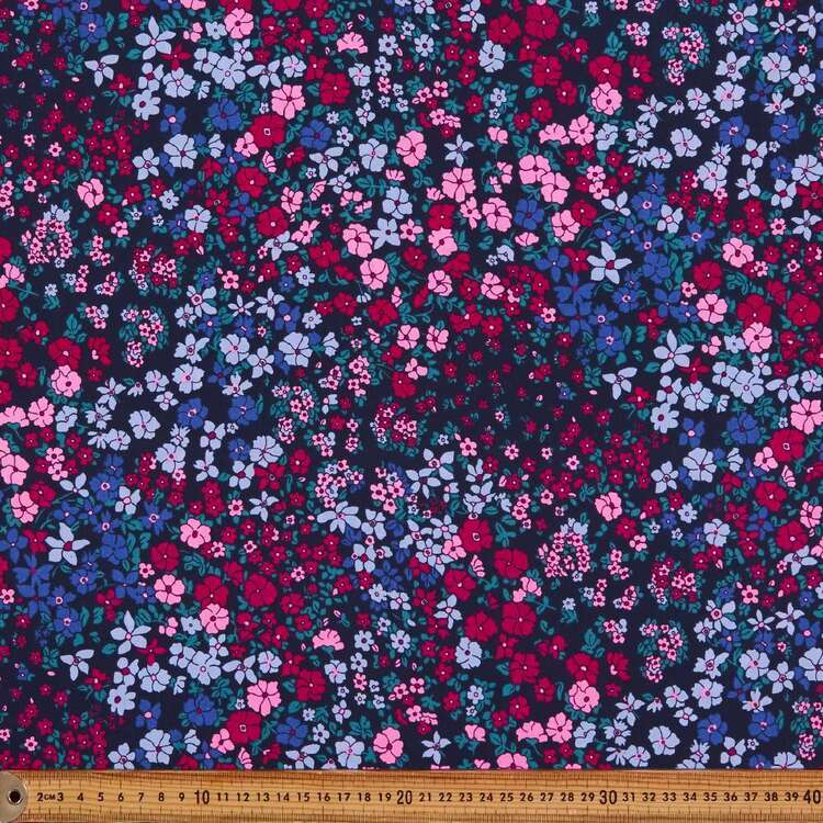 Flower Patch Printed 112 cm Mix N Match Poly Cotton Fabric