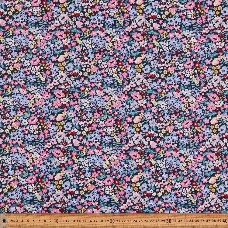 Mix n Match Full Bloom Printed 112 cm Poly Cotton Fabric