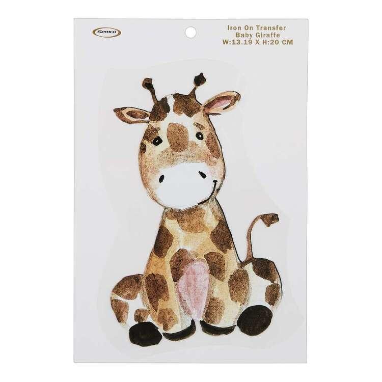 Baby Giraffe Iron On Transfer