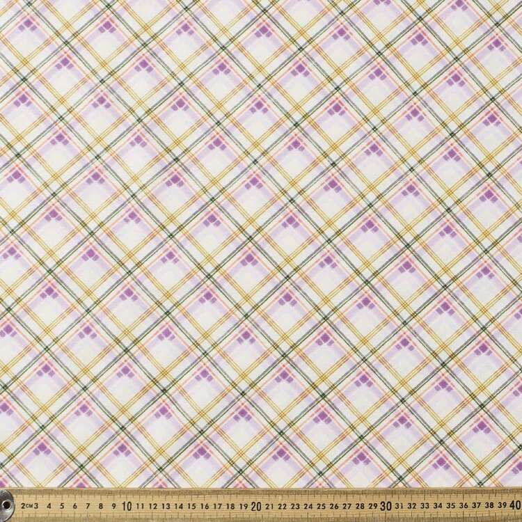 Daisy Woods Plaid Cotton Fabric