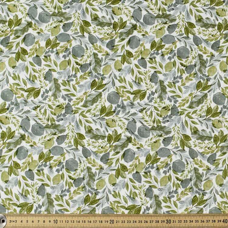 Daisy Woods Leaves Cotton Fabric