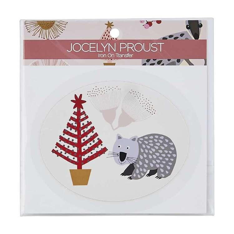 Jocelyn Proust Christmas Tree Wombat Iron On Transfer
