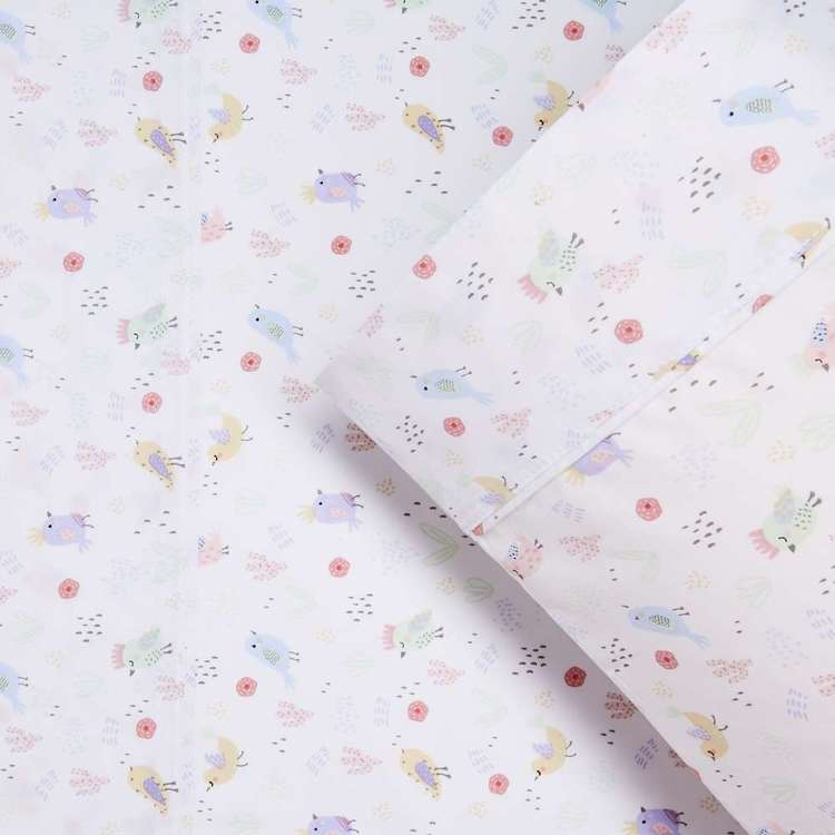 Kids House Cactus Bird Sheet Set