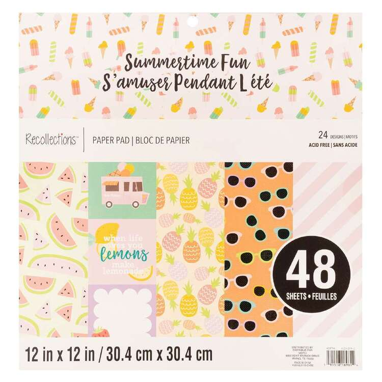 Recollections 12 x 12 in Summertime Fun Paper Pad