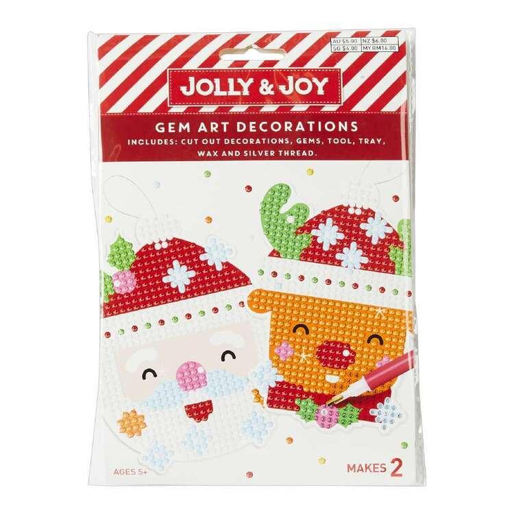 Jolly & Joy Santa Reindeer Tree Gem Art Kit