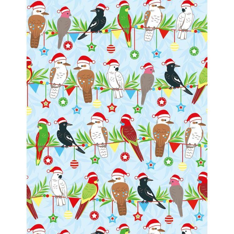 Sugar & Spice Christmas Aussie Birds Fabric