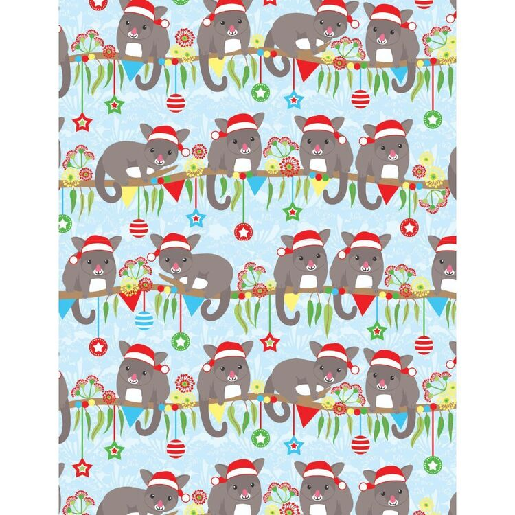 Sugar & Spice Aussie Possum Christmas Fabric