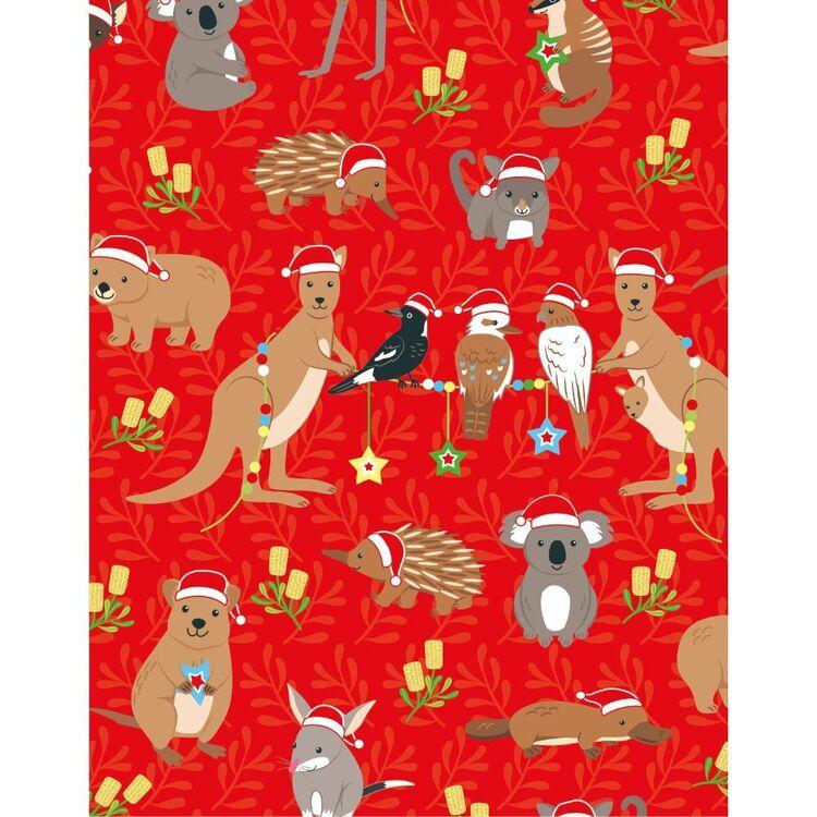 Sugar & Spice Christmas Aussie All The Animals Fabric