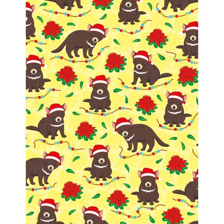 Sugar & Spice Aussie Tassie Devil Christmas Fabric
