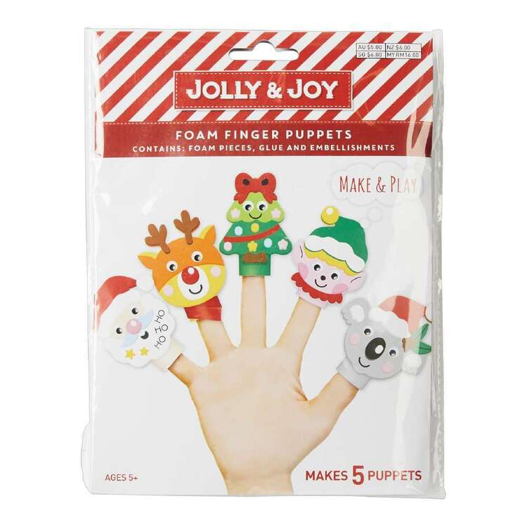 Jolly & Joy Foam Finger Puppet Craft Kit