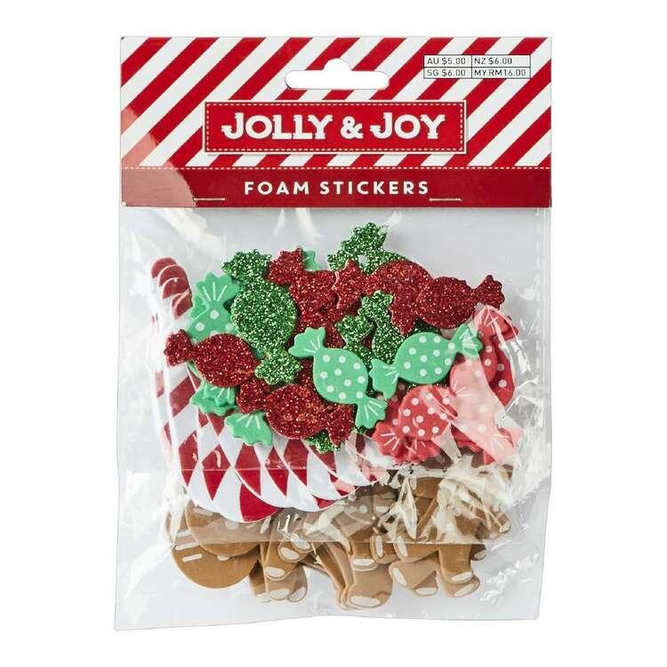 Jolly & Joy Candy Cane Foam Stickers