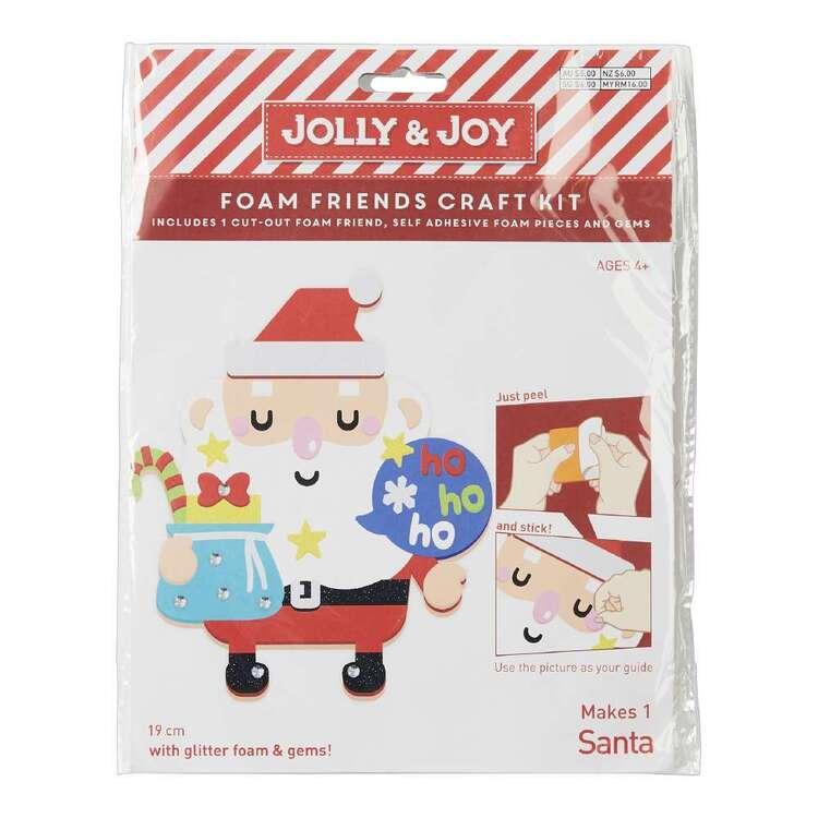 Jolly & Joy Santa Foam Friends Craft Kit