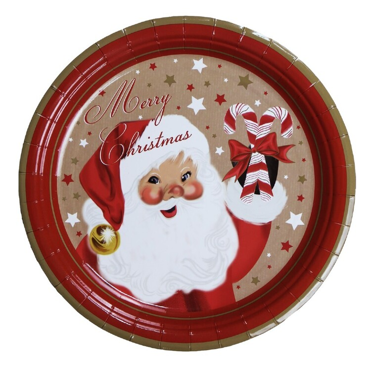 Jolly & Joy Santa Paper Plate 10 Pack