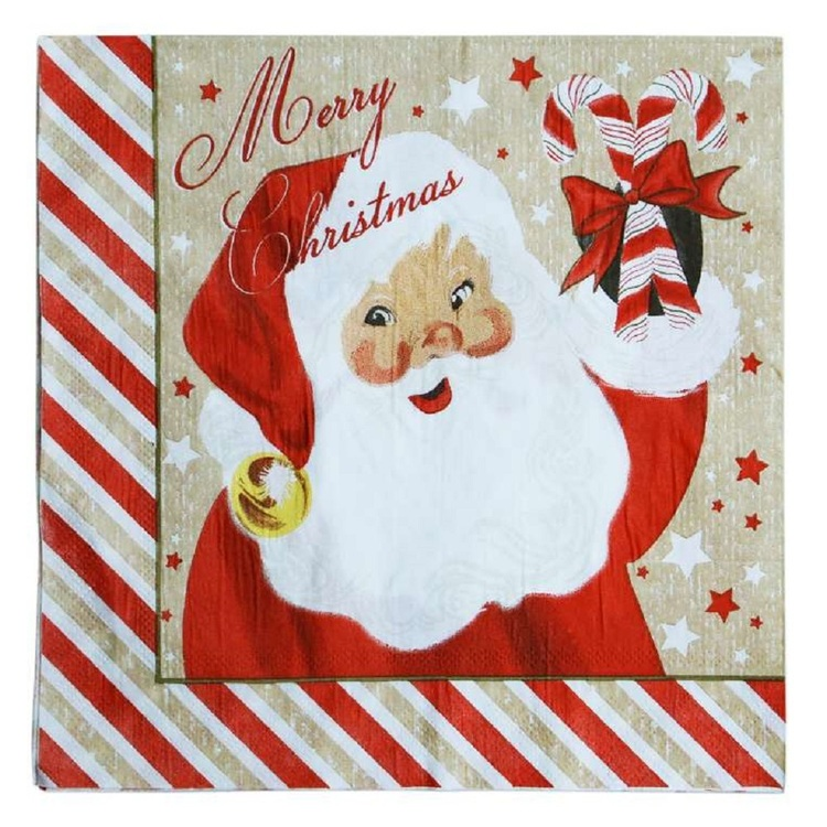 Jolly & Joy Santa Paper Napkin 25 Pack