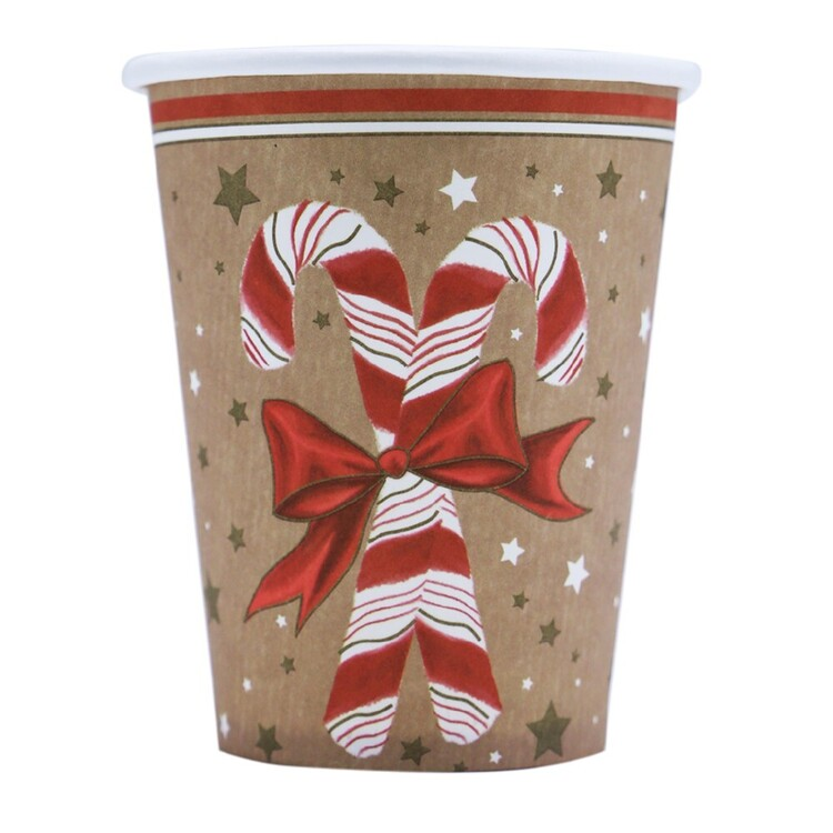 Jolly & Joy Santa Paper Cups 10 Pack