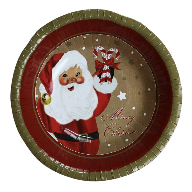 Jolly & Joy Santa Paper Bowl 10 Pack