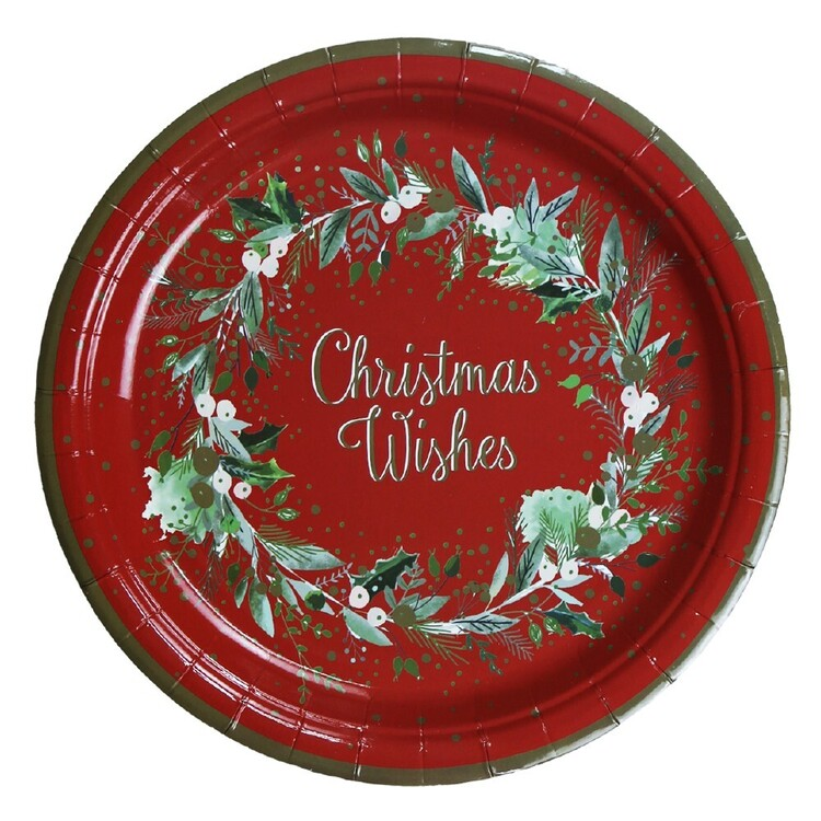 Jolly & Joy Holly Paper Plate 10 Pack