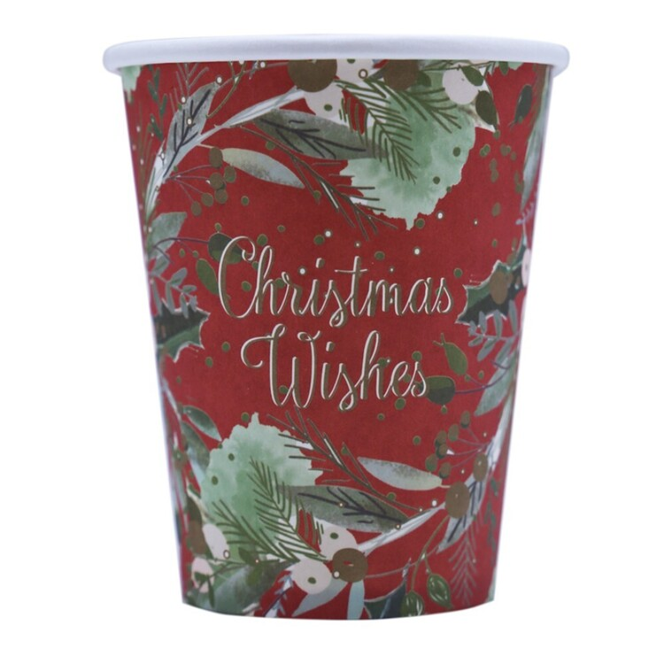 Jolly & Joy Holly Paper Cups 10 Pack