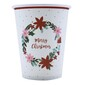 Jolly & Joy Poinsettia Paper Cups 10 Pack Multicoloured