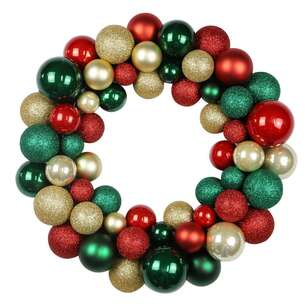 Jolly & Joy Traditional Bauble Wreath
