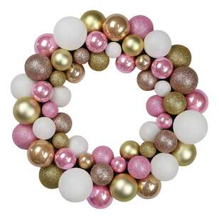 Jolly & Joy Metallic Bauble Wreath