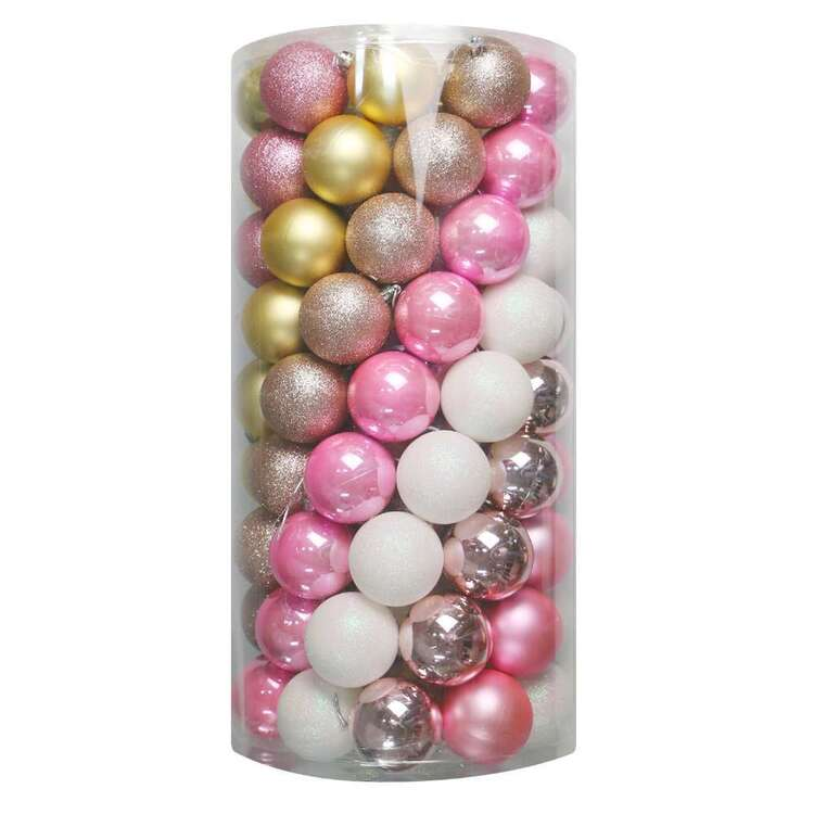 Jolly & Joy White Christmas Baubles 100 Pack