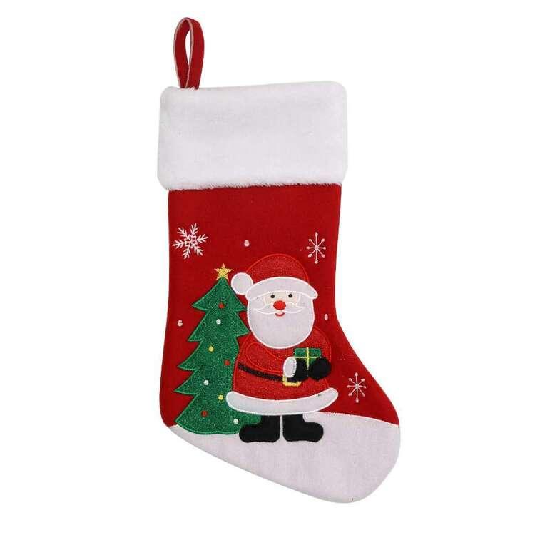 Jolly & Joy Santa Christmas Stocking