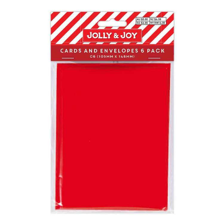 Jolly & Joy C6 Cards & Envelopes 6 Pack