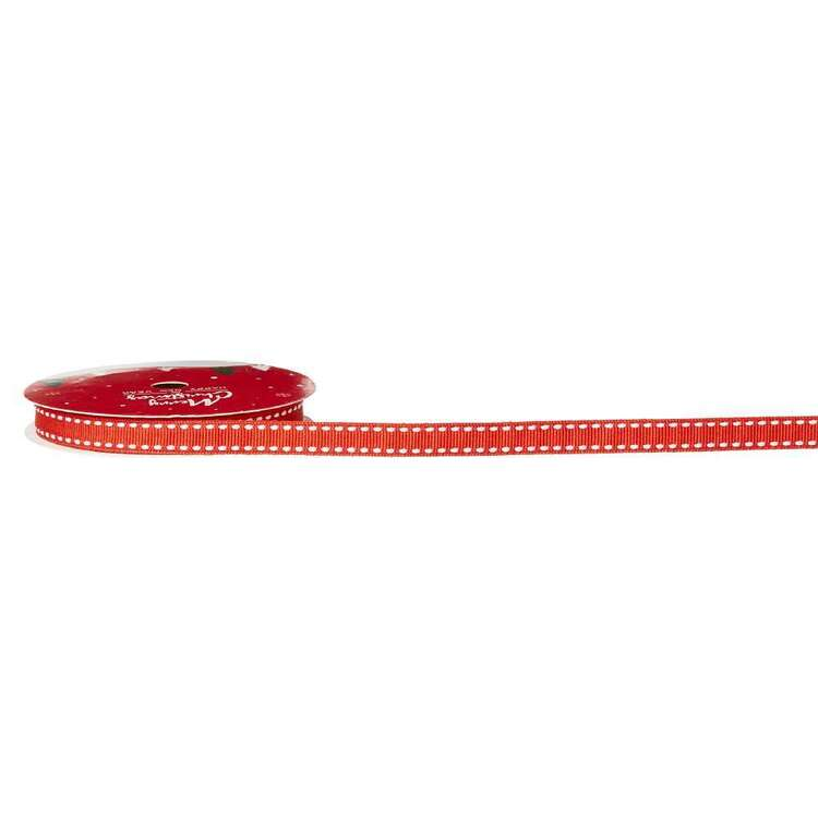 Stitch Edge Traditional Christmas Ribbon