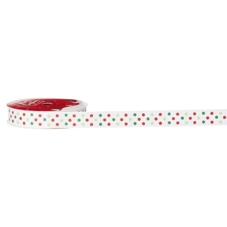 Dots Traditional Christmas Ribbon