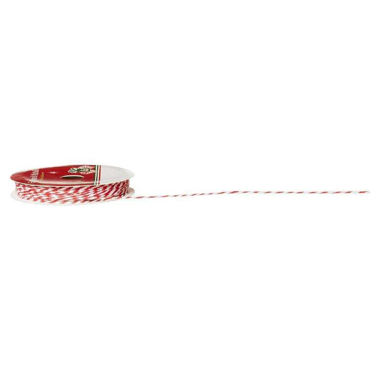 Red & White Twine Ribbon
