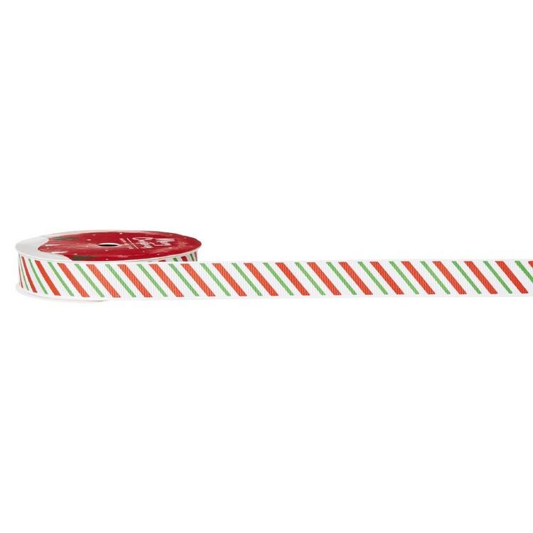 Striped Traditional Christmas Ribbon
