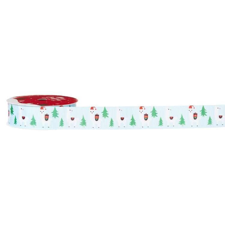 Alpaca Traditional Christmas Ribbon