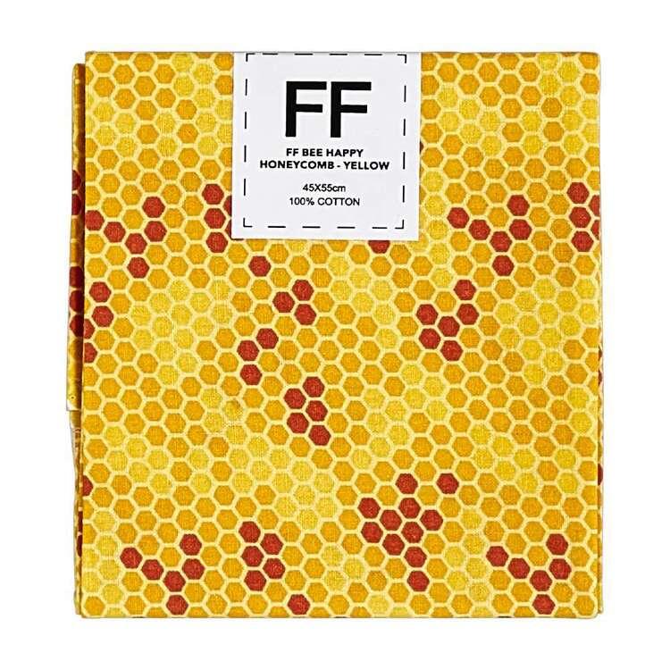 Bee Happy Honeycomb Cotton Flat Fat