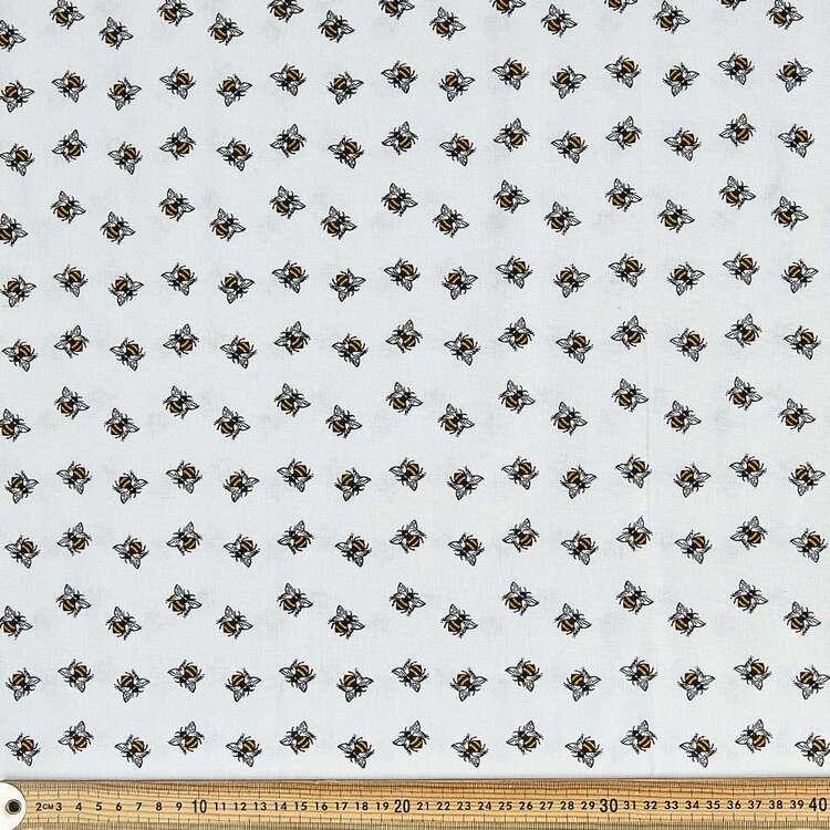 Bee Happy Honeybees Cotton Fabric