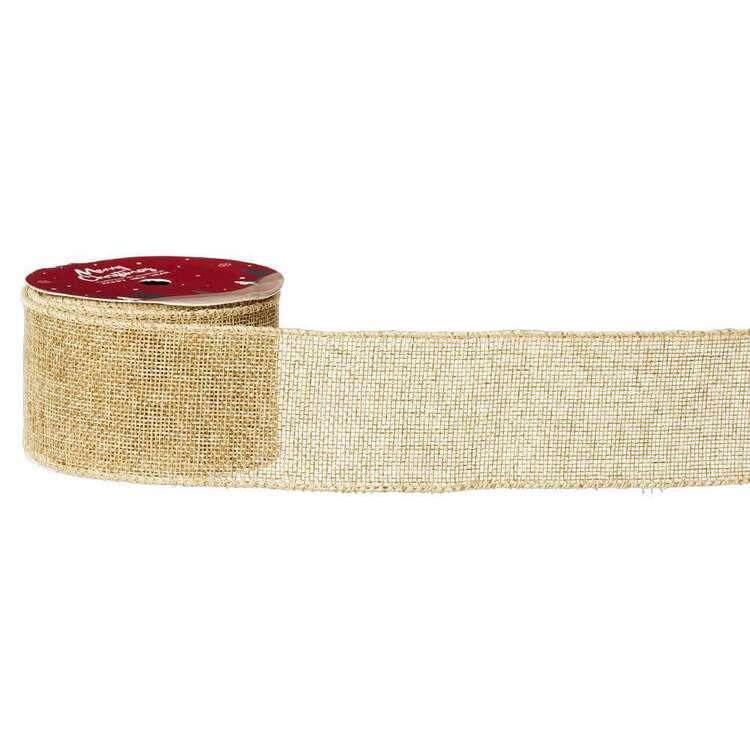 Natural Traditional Christmas Ribbon