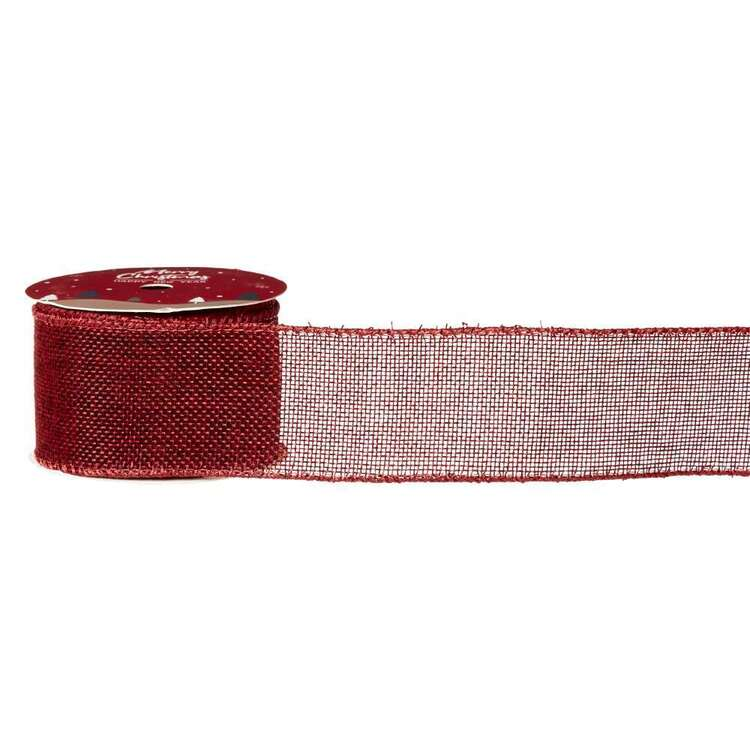 Linen Cotton Christmas Ribbon