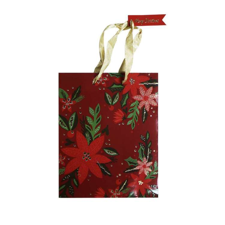 Jolly & Joy Red Flower Medium Bag