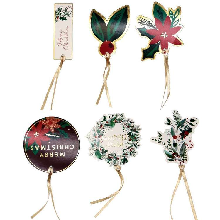 Jolly & Joy Mistletoe Gift Tags 12 Pack