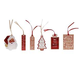 Jolly & Joy Merry Christmas Gift Tags 12 Pack