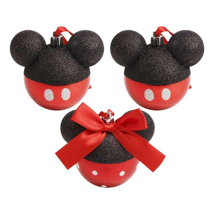 Disney Mickey Head Bauble 3 Pack