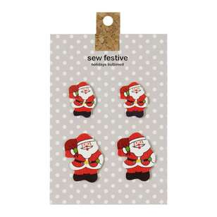 Carded Buttons Santa # 1