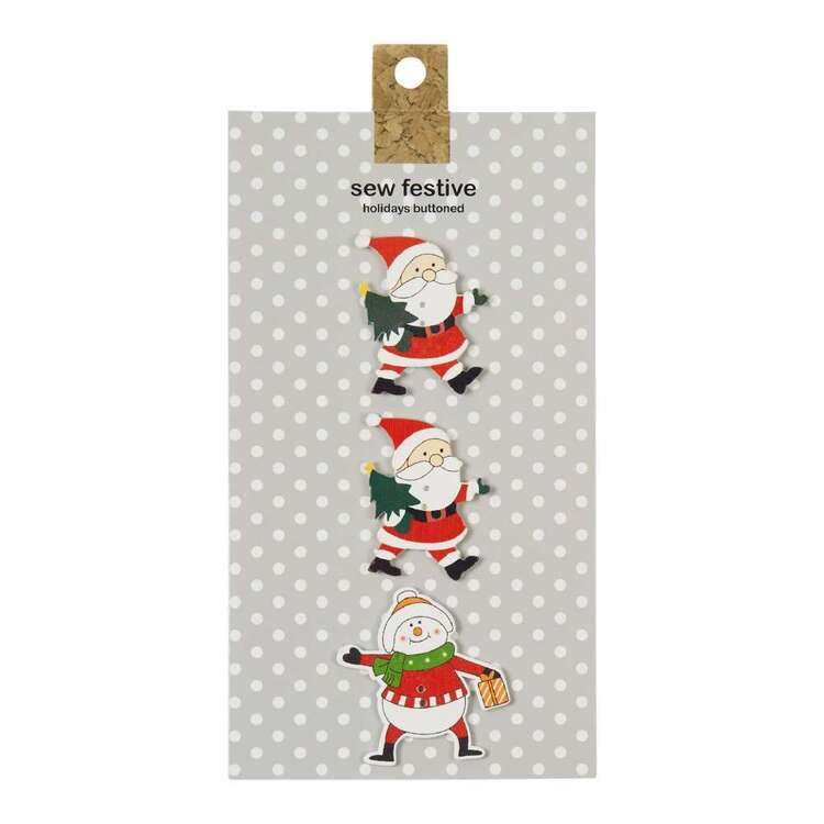 Carded Buttons Santa # 2