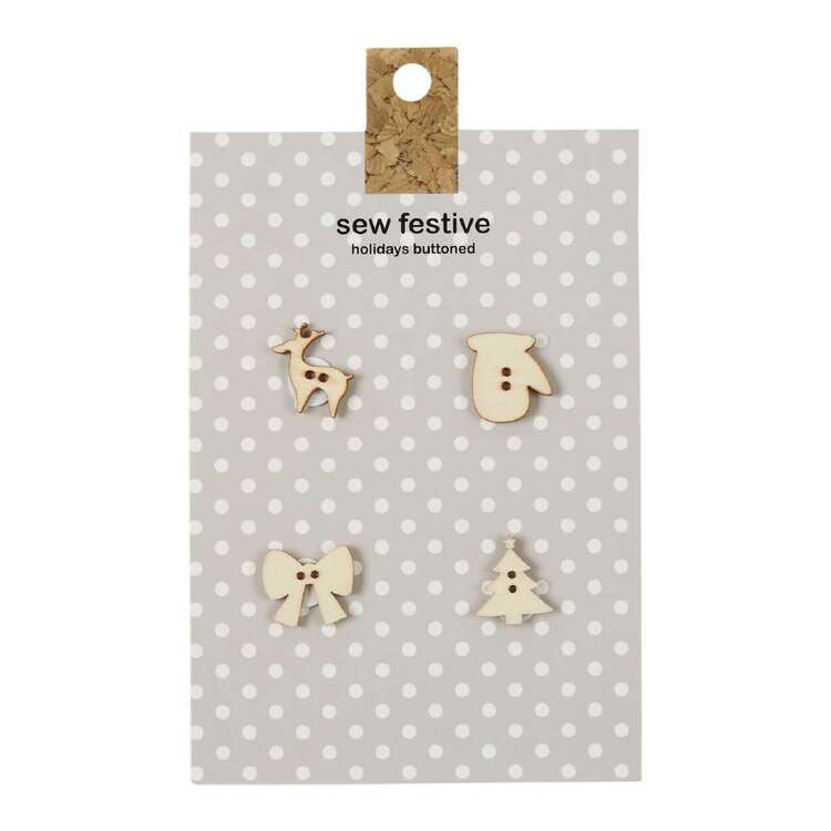 Carded Buttons Wood # 2
