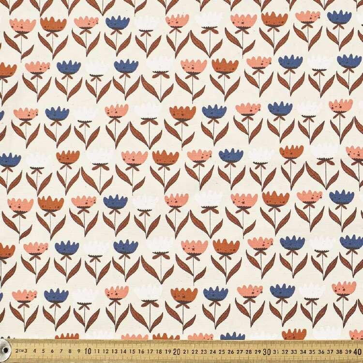 Cloud 9 Tulip Printed Organic Canvas 112 cm Fabric